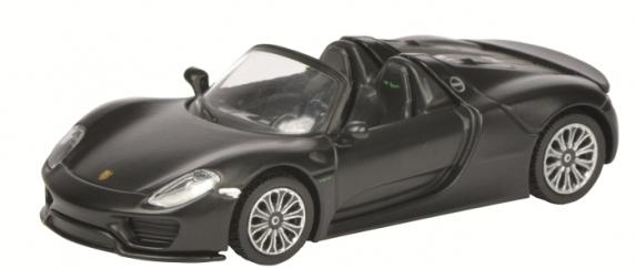 452011400  Porsche 918 Spyder, matzwart, Schuco