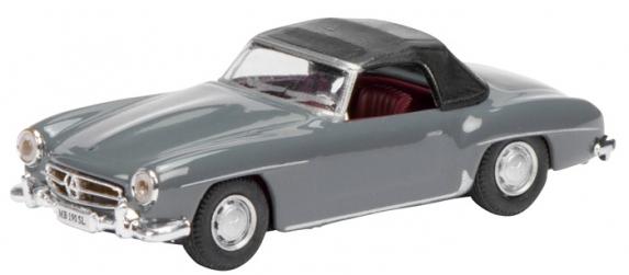 452618000  Mercedes-Benz 190 SL Softtop, grijs, Schuco