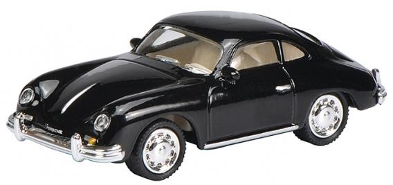 452626600  Porsche 356 A Coupé, zwart, Schuco