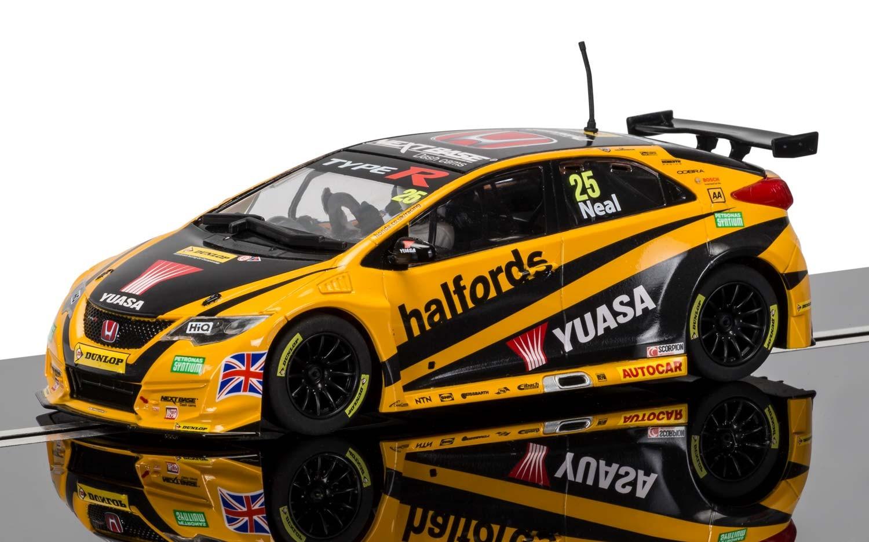 "3861  BTCC Honda Civic Type R ""BTCC 2016"" Halfords Yuasa Racing, Scalextric"