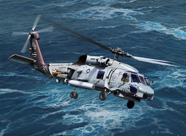 4955  SH-60 Navy Helicopter, Revell