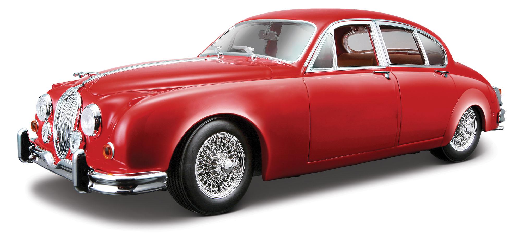 18-12009  Jaguar MkII 1959, rood, Bburago