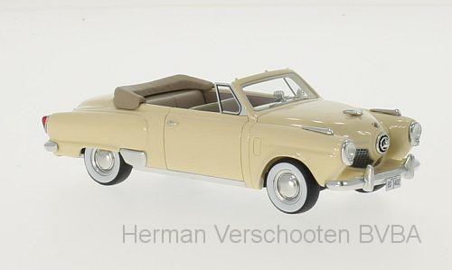 BOS43402  Studebaker Champion 2-door Convertible, lichtgeel, Bos