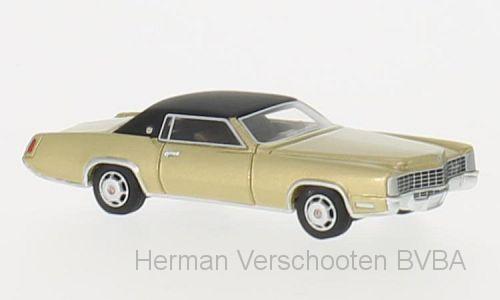 BOS87186  Cadillac Eldorado, goud/zwart, Bos