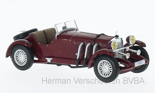 WB204    Mercedes-Benz SSk, rood, Whitebox