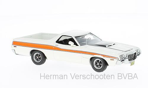 44856  Ford Ranchero GT, wit/oranje, Neoscale Models