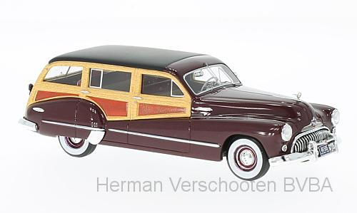 46505    Buick Roadmaster 79 Estate Wagon, donkerrood, Neoscale Models