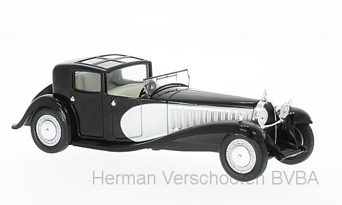 WB221    Bugatti Type 41 Royale, zwart/zilver, Whitebox
