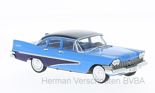 WB222    Plymouth Savoy, lichtblauw/donkerblauw, Whitebox