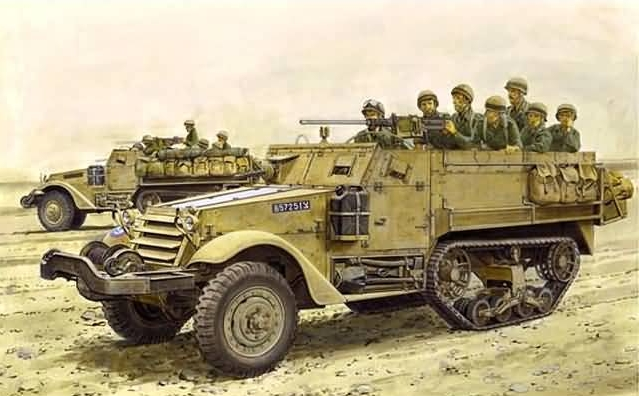 "3569    M3 Half-Track ""50th Anniversary, The 6-Day War"", Dragon, Schaal 1/35"