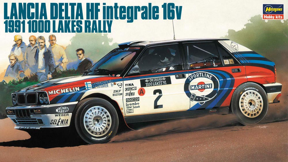 20289  Lancia Delta HF Integrale 16v 1991 1000 Lakes Rally, Hasegawa, Schaal 1/24