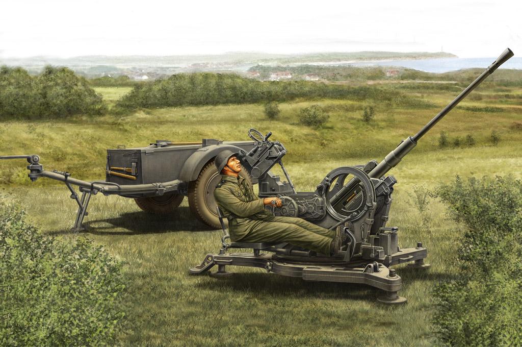 80148  2CM Flak38 Late Version./SD. AH 51, Schaal 1/35