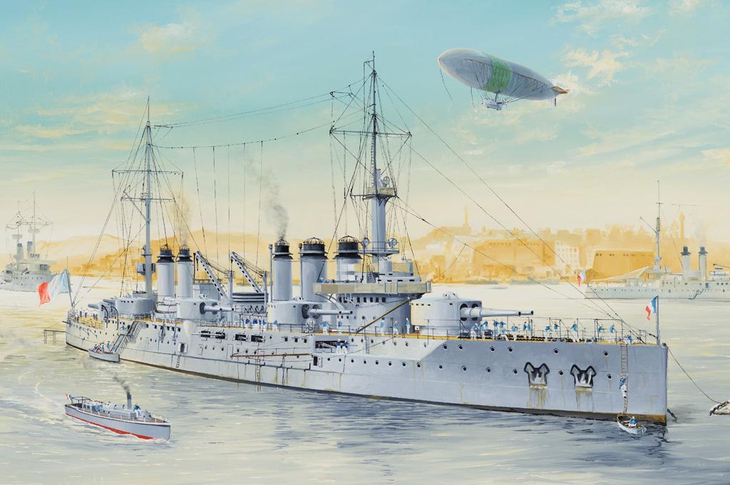 86504  French Navy Pre-Dreadnaught Battleship Voltaire, Schaal 1/350