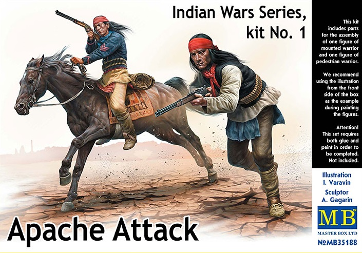 35188    Indian Wars series 1, Apache Attack, MB, Schaal 1/35