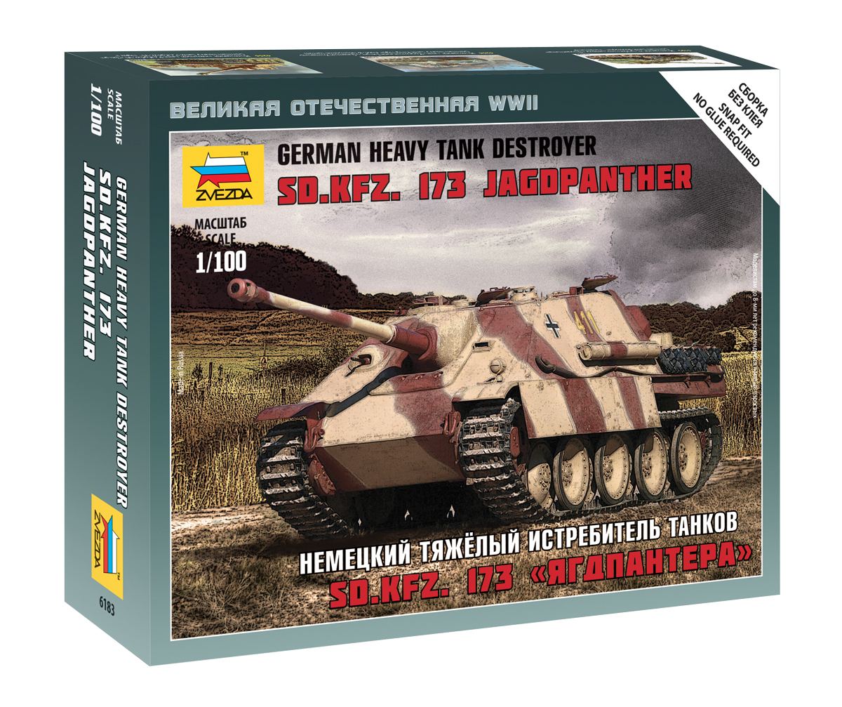 6183    German Heavy Tank Destroyer Sd.Kfz. 173 Jagdpanther, Zvezda, Schaal 1/100