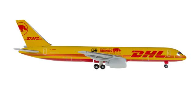 """529976  Boeing 757-200F """"DHL Air, Eliska's Return to Africa"""", Herpa Wings"""