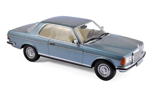 183588  Mercedes-Benz 280 CE 1980, zilverblauw met., Norev