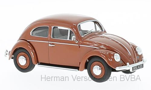 VA01207  VW Beetle, ovaal raam, bruin, Corgi