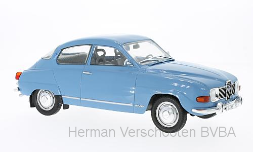 MCG18060    Saab 96 V4, blauw, Model Car Group