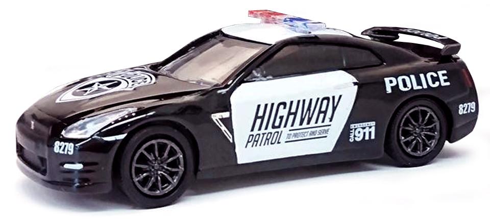 """51092  2015 Nissan GT-R (R35) """"Police"""", Greenlight"""