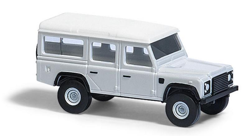 8370  Land Rover Defender, wit, Busch