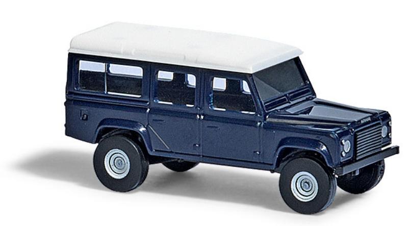 8372  Land Rover Defender, donkerblauw, Busch