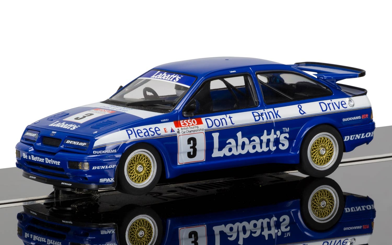 "3867    Ford Sierra RS500 1990 ""Esso RAC BTCC Season"", Scalextric"