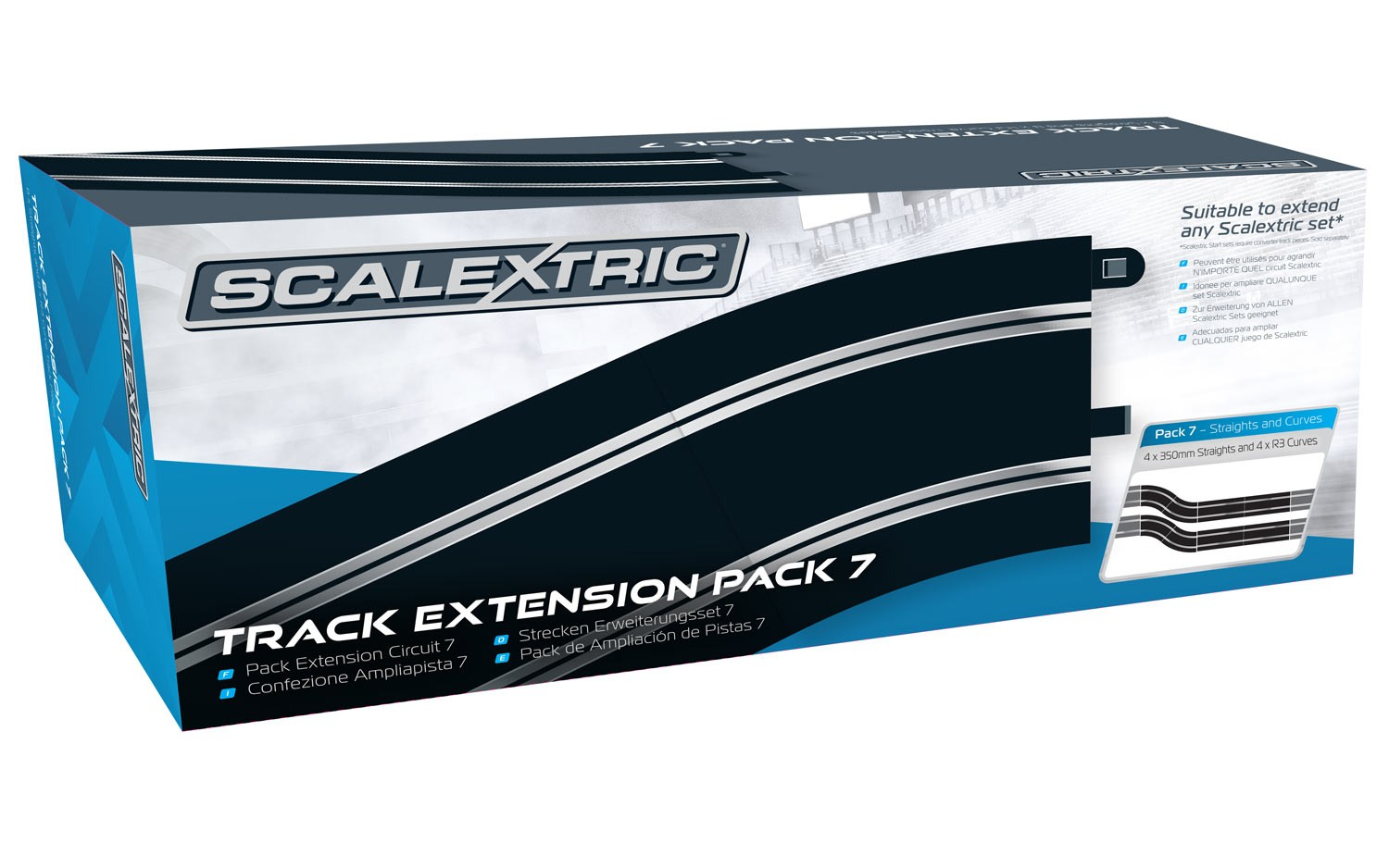 8556    Track Extension Pack 7, Scalextric