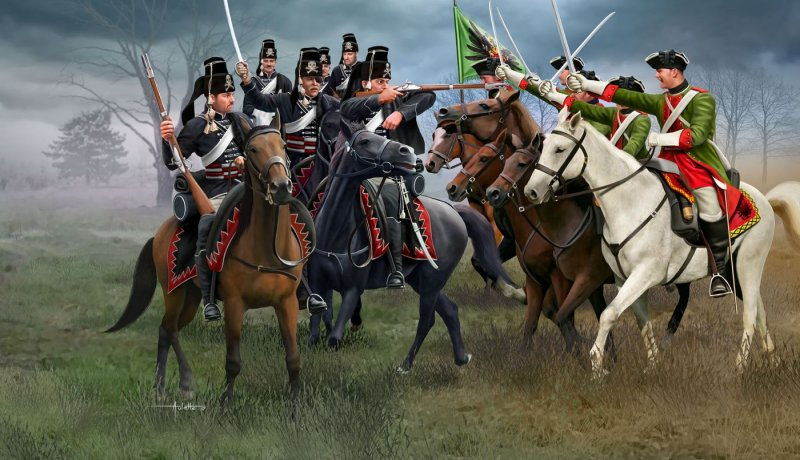 "2453    ""Seven Years' War"", Austrian Dragoons + Prussian Hussars, Revell"
