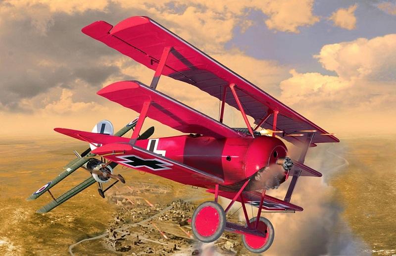 """5778  Fokker DR.I """"125 jaar Roter Baron"""", Revell"""