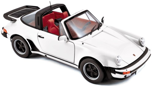 187660  Porsche 911 Turbo Targa 3.3 1987, wit, Norev