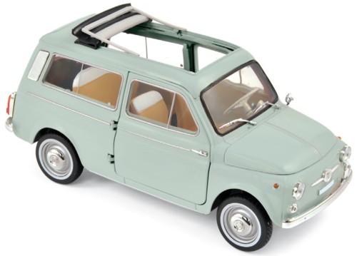 187723  Fiat 500 Giardiniera 1962, lichtgroen, Norev