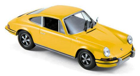 750056  Porsche 911 S 2.4 1973, limoengeel, Norev