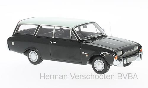 44561  Ford Taunus 17m P3 Turnier, zwart/wit, Neoscale Models