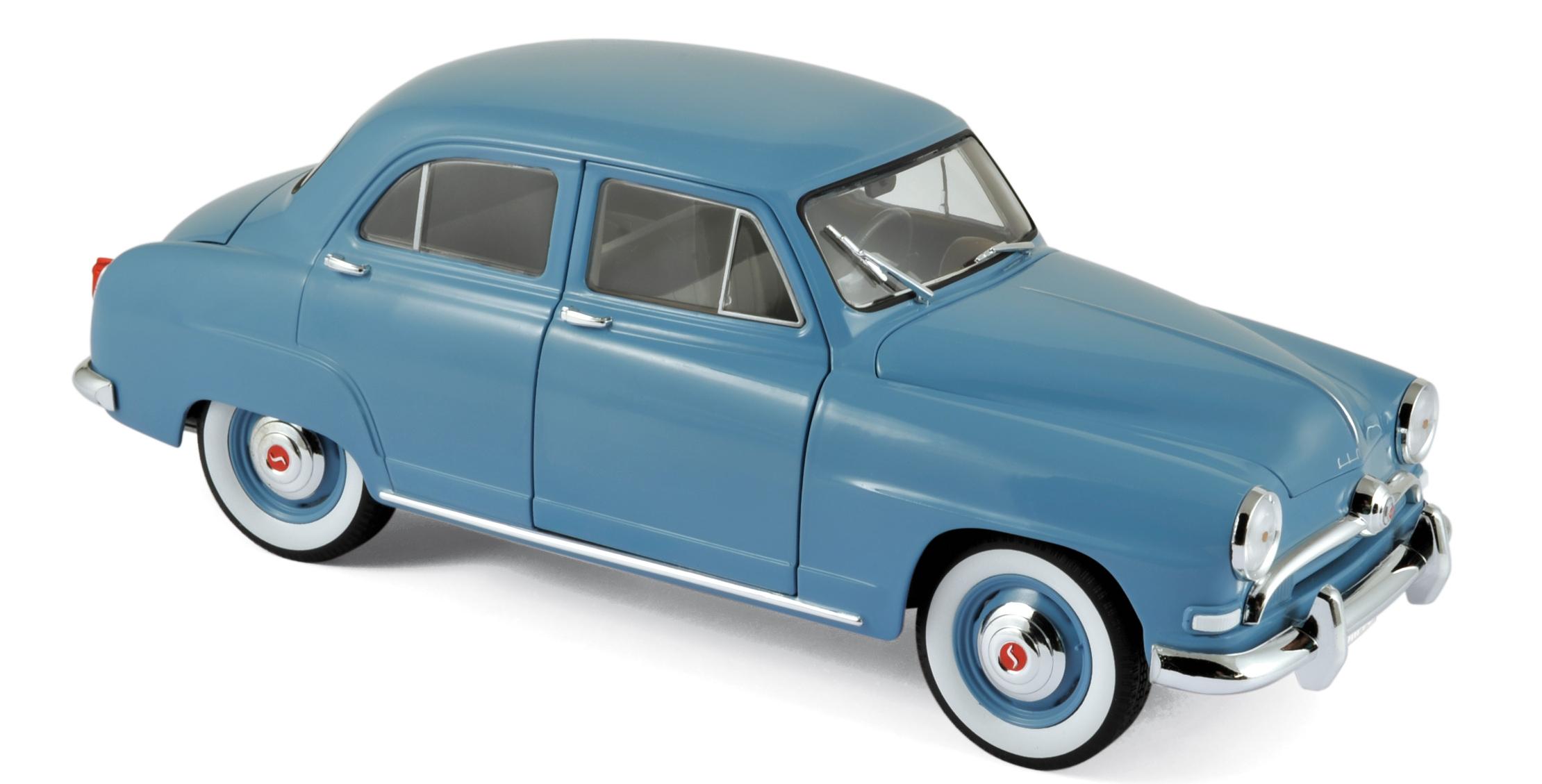 185741  Simca 9 Aronde 1954, lichtblauw, Norev
