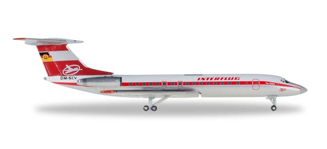 "527095    Tupolev TU-134A ""Interflug"", Herpa Wings"