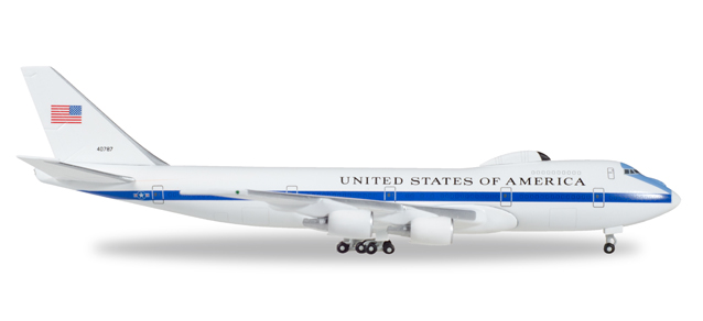 """529266-001  Boeing E-4B Nightwatch """"USAF Airborne Command Post"""", Herpa Wings"""