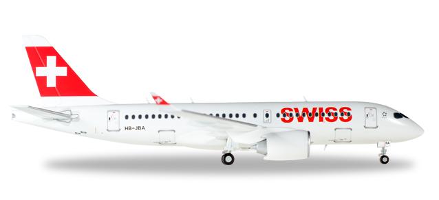 """558471  Bombardier CS100 """"Swiss International Air Lines"""", Herpa Wings"""