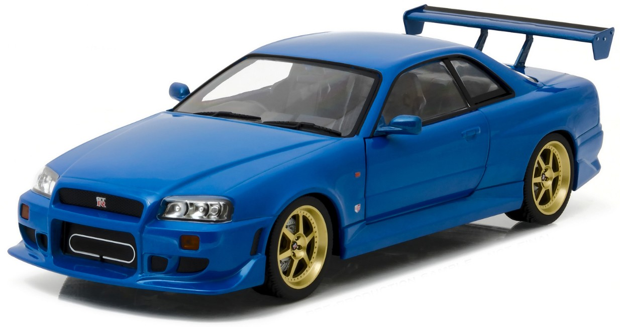 19032    1999 Nissan Skyline GT-R R34, blauw, Greenlight