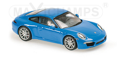 940060220  Porsche 911 Carrera S 2012, blauw, Maxichamps/Minichamps