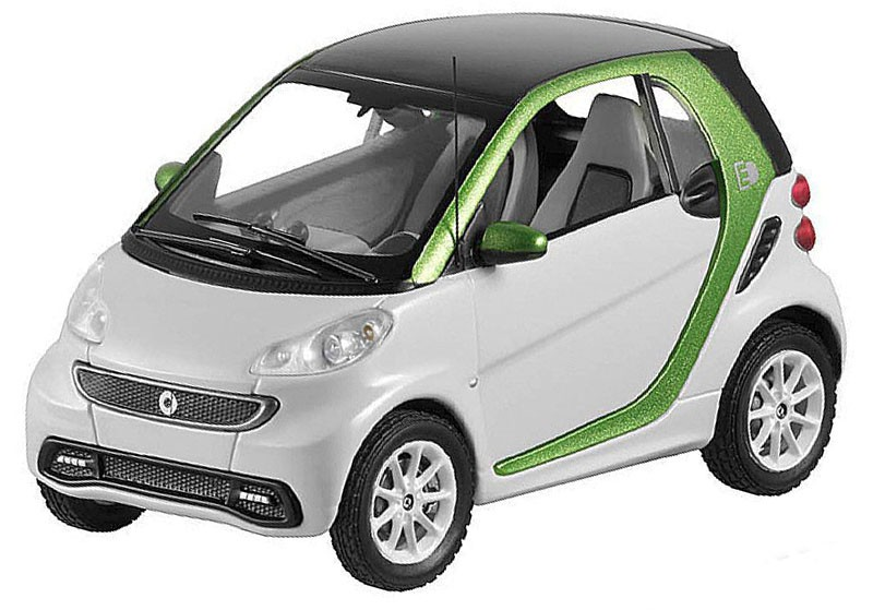 B66960172    Smart Fortwo Electric Drive Coupé, wit/groen, Spark
