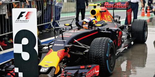 "417161233  Red Bull Tag Heuer RB12 - ""M.Verstappen"", 3rd pl. Brazilian GP 2016, Minichamps"