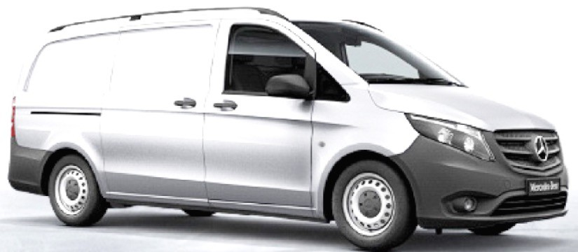 B66004145  Mercedes-Benz Vito bestelwagen 2014, wit, Norev