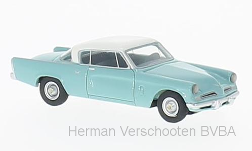 BOS87241    Studebaker Commander Starliner, turquoise/wit, Bos