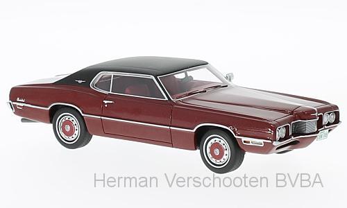 47045  Ford Thunderbird 2-door, rood/zwart, Neoscale Models