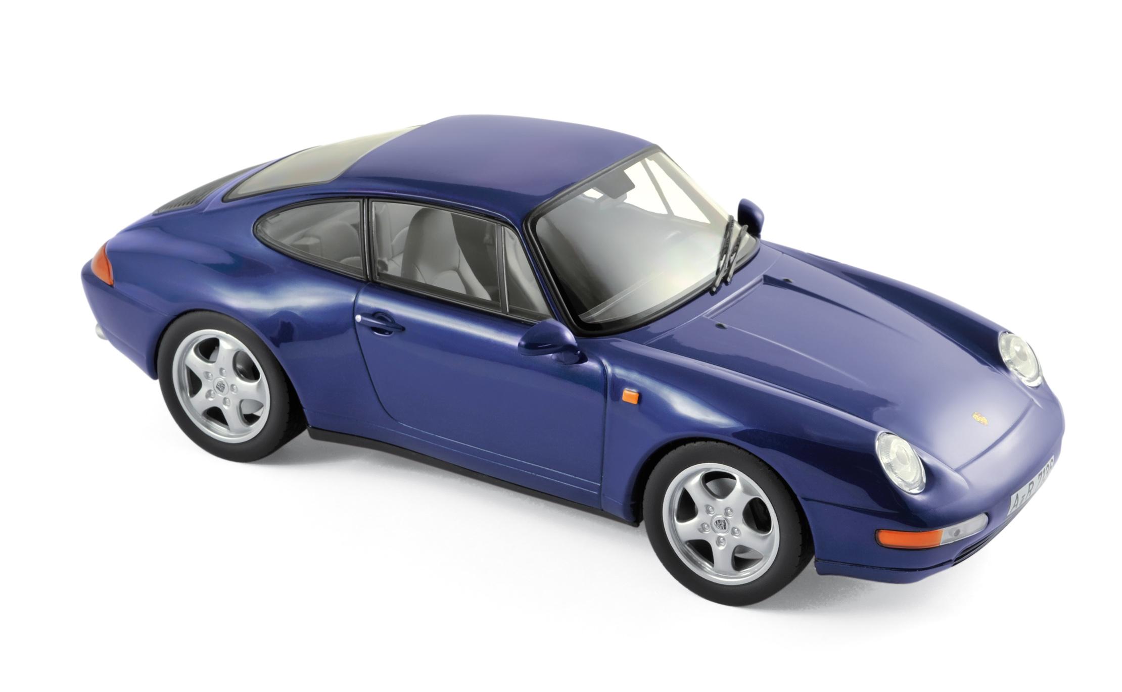 187593  Porsche 911 Carrera 1993, blauw met., Norev