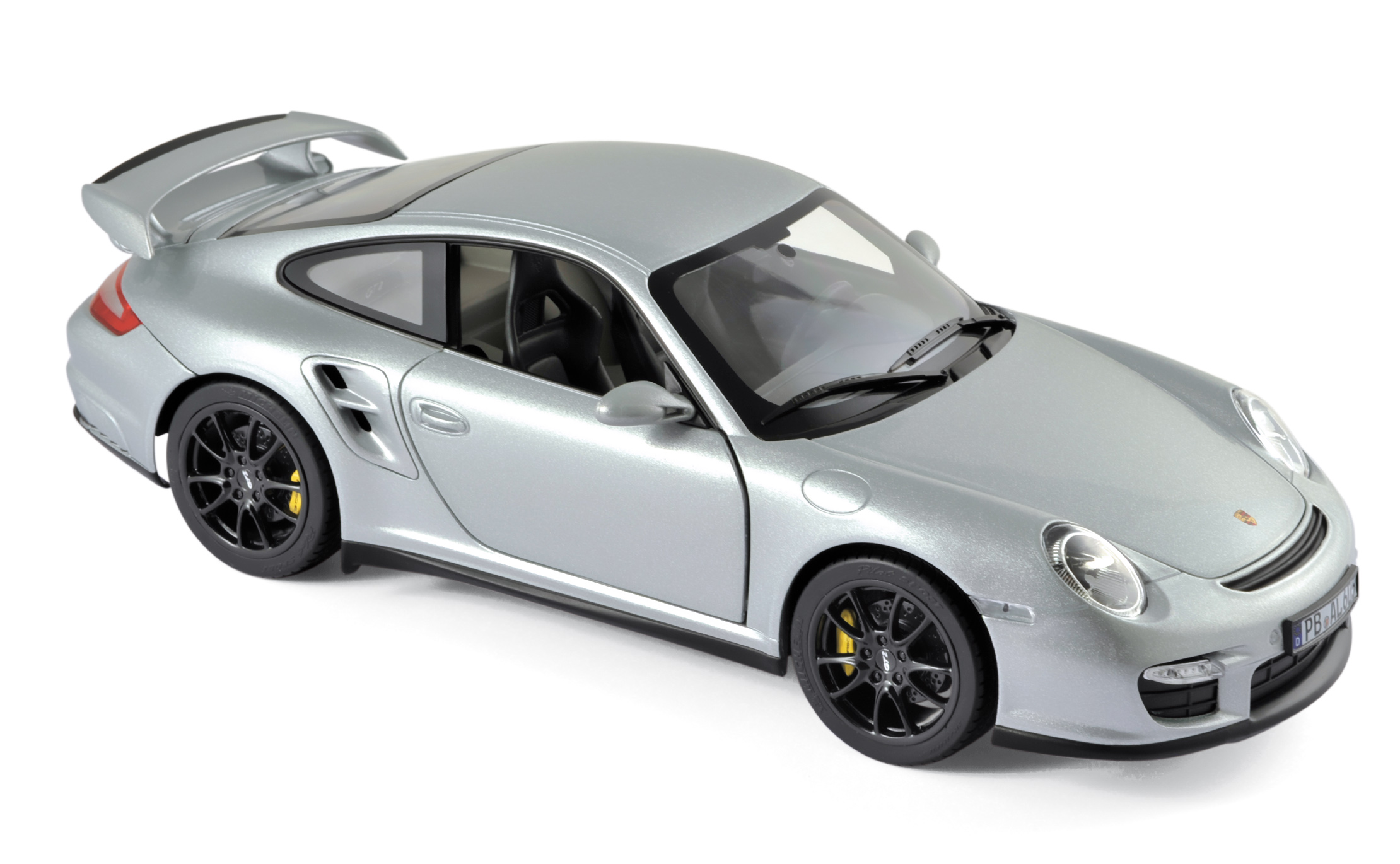 187594  Porsche 911 GT2 2007, zilver, Norev