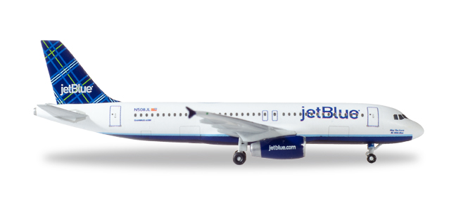 "530361  Airbus A320 ""JetBlue Tartan tailfin design"", Herpa Wings"