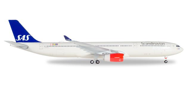 """558303  Airbus A330-300 SAS """"Helge Viking"""", Herpa Wings"""