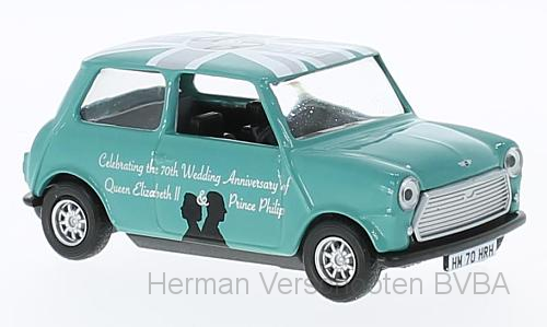 "CC82108    Mini Austin ""70th Anniversary of HM Queen Elizabeth II & HRH Philip"", Corgi"